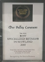 2018 Best Specialized Retailer in Scotland