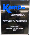 Kampa Awnings Scottish Dealer of the year 2017